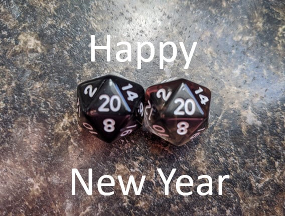 two d20 dice