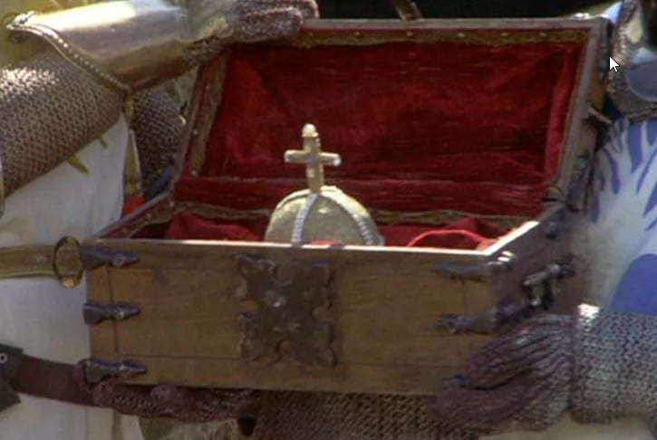holy hand grenade of antioch in wood box