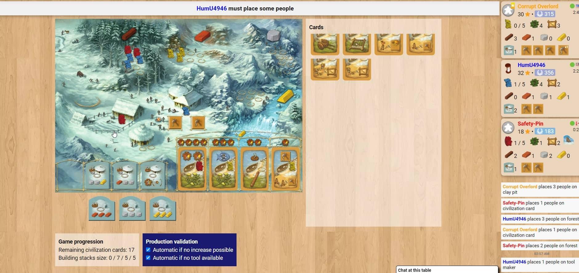 Stone Age Winter Board Game