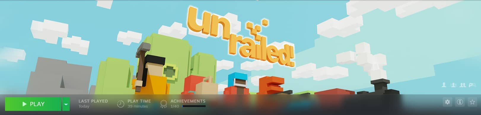 Unrailed video game screenshot