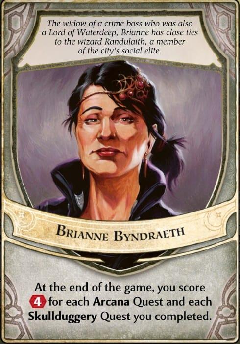 Brianne Byndraeth Lords of Waterdeep Lords card