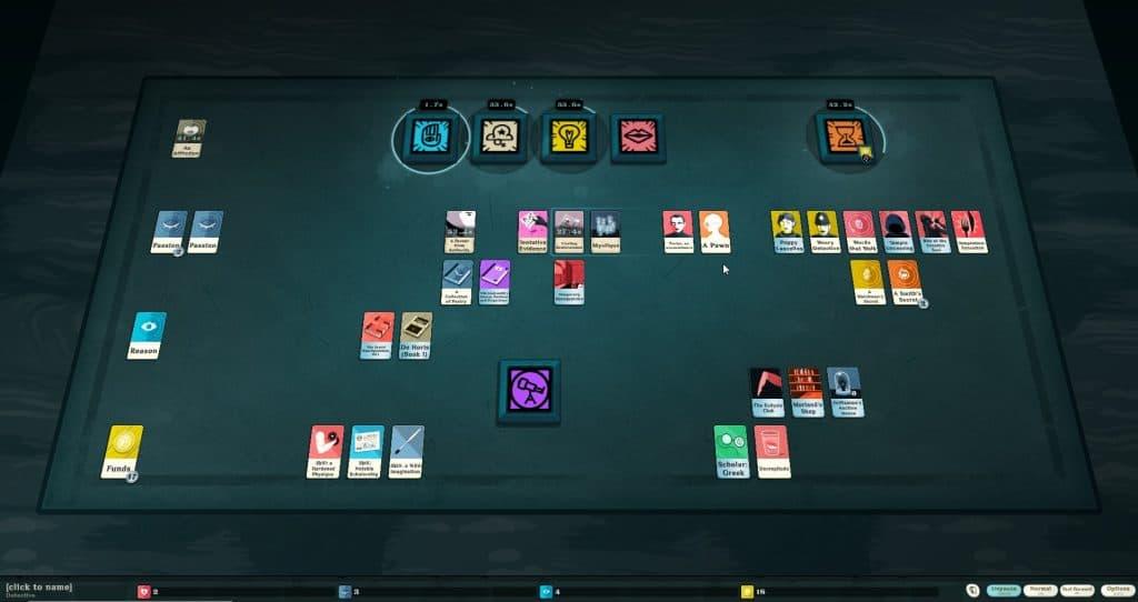 cultist simulator gameplay pic