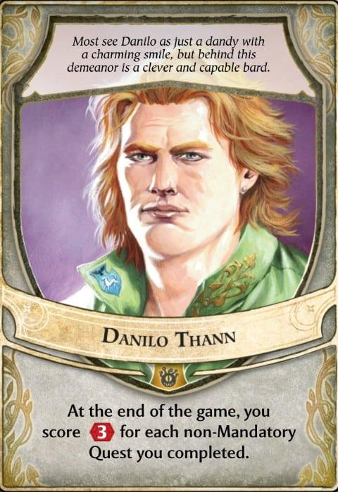 Danilo Thann Lords of Waterdeep Lord Card