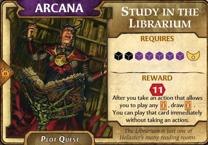 Study Librarium LOW plot quest
