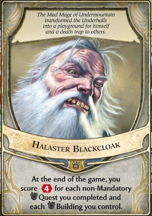 Halaster Blackcloak Lords of Waterdeep Lord Card
