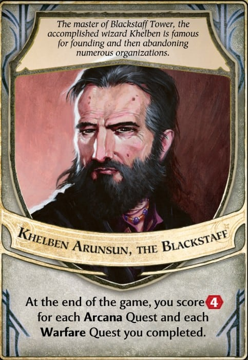 Khelben Arunsun the Blackstaff Lords of Waterdeep lord card