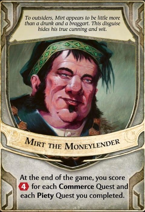 Mirt the Moneylender Lord of Waterdeep Lord Card