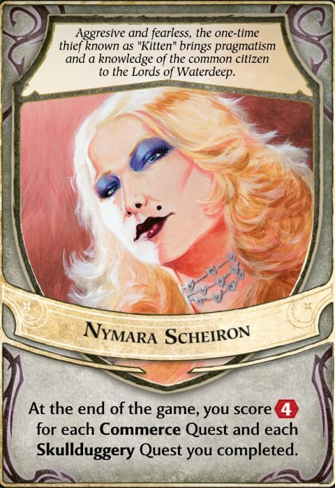 Nymara Scheiron Lords of Waterdeep Lord Card