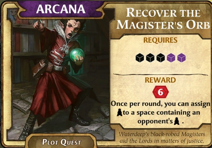 Best Arcana Plot Quest Lords of Waterdeep