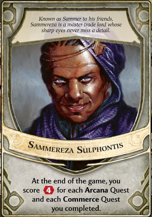 Sammereza Sulphontis Lord of Waterdeep Lord Card