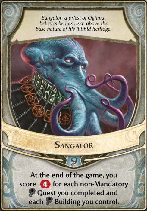 Sangalor Lords of Waterdeep Lord Card.