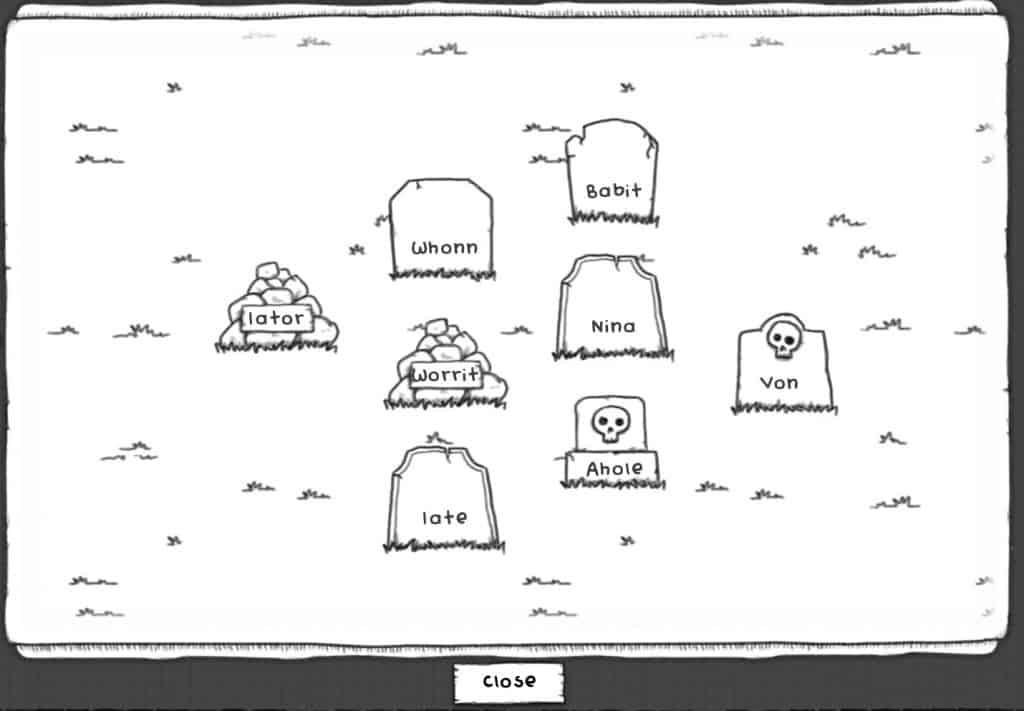 Guild of Dungeoneering Graveyard Screenshot