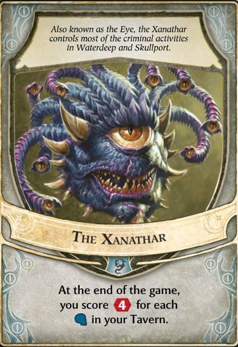 The Xanathar Lords of Waterdeep Lord Card