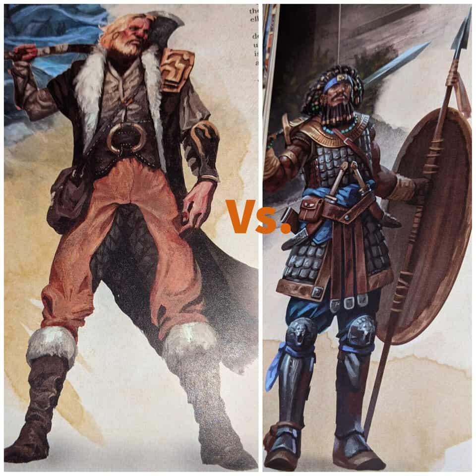 5E fighter vs barbarian