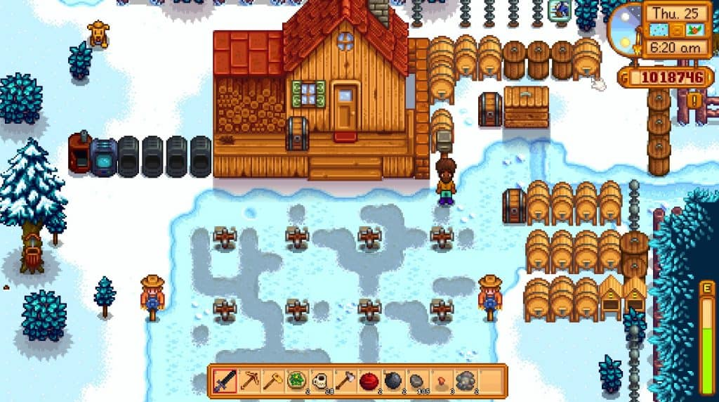 stardew valley screenshot farm in winter