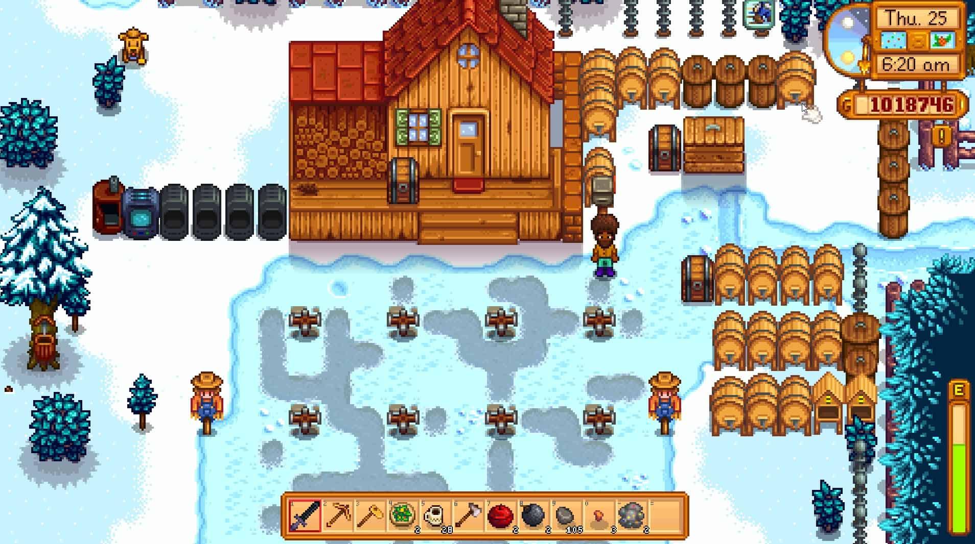 stardew valley farm winter
