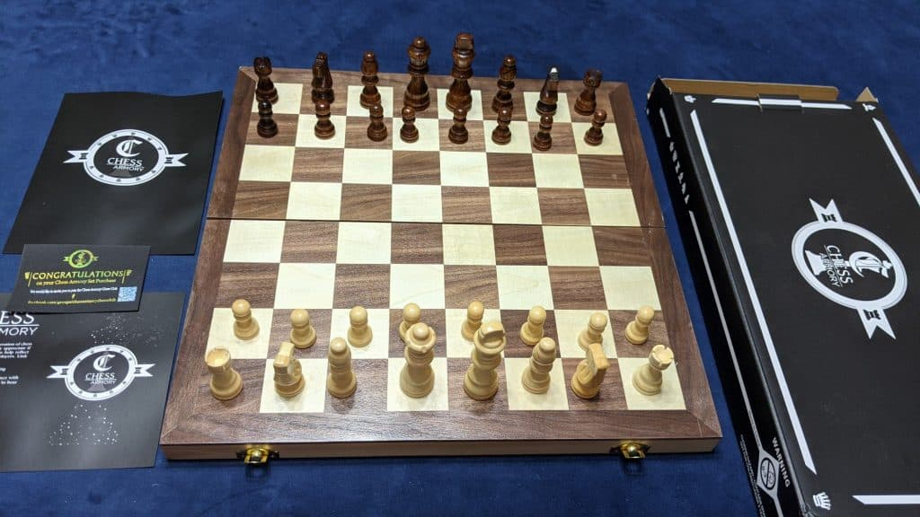 set up wood chess board