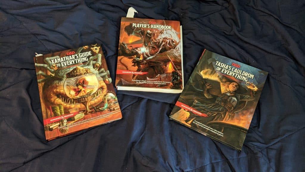three D&D books