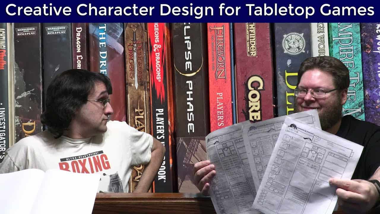 Gamers showing off character sheets