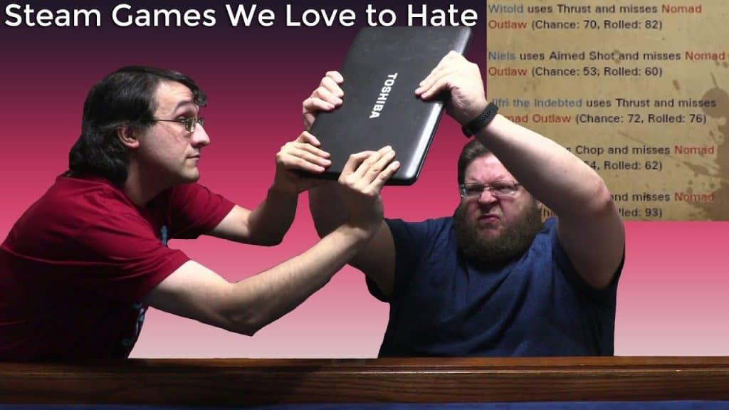 gamer about to smash laptop