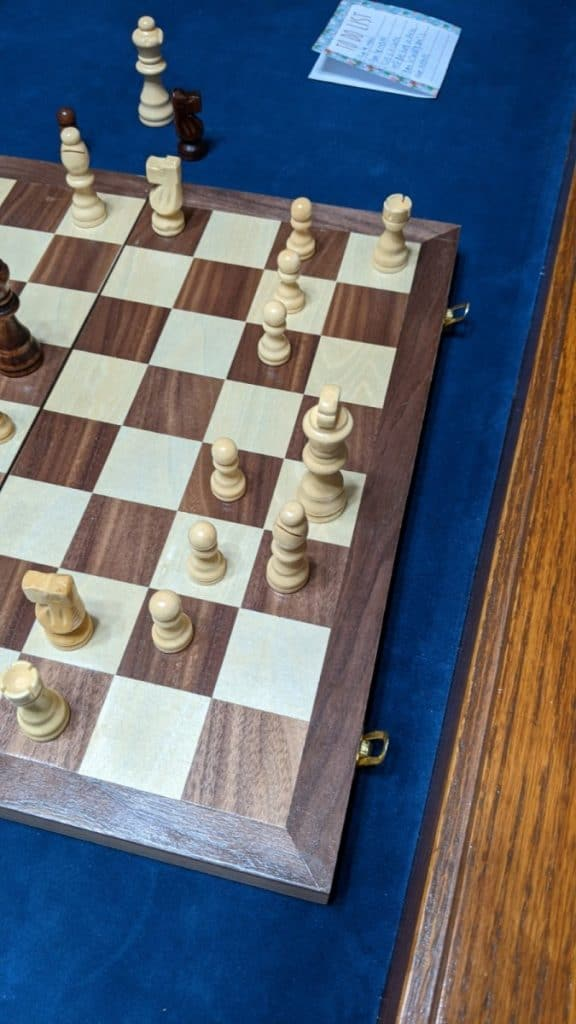 white king moved chessboard