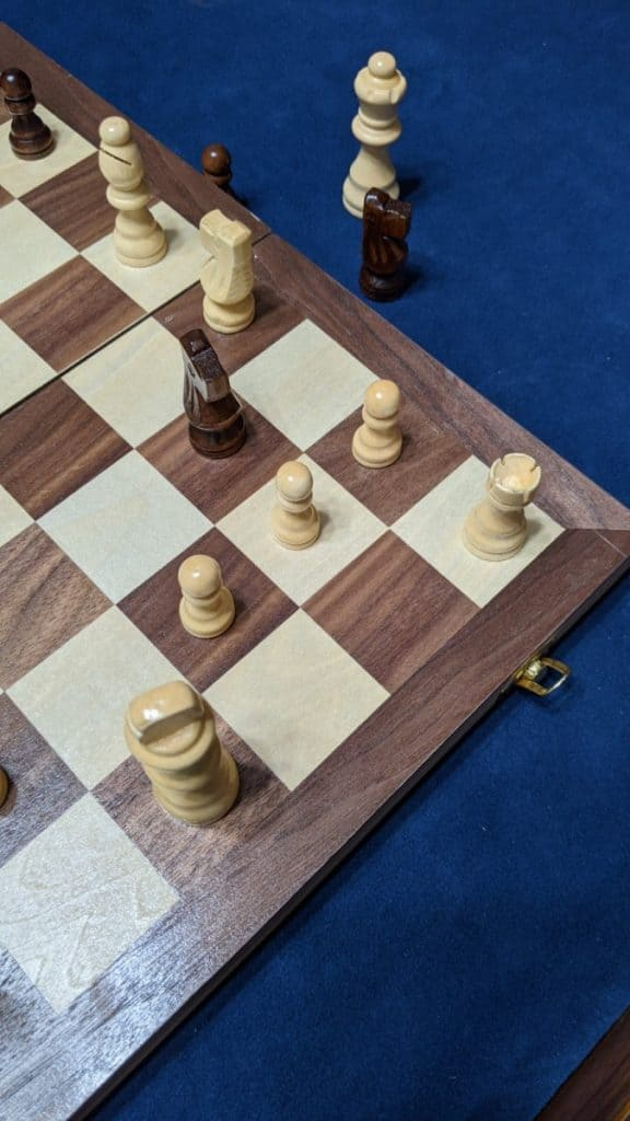 space in castle is threatened chess