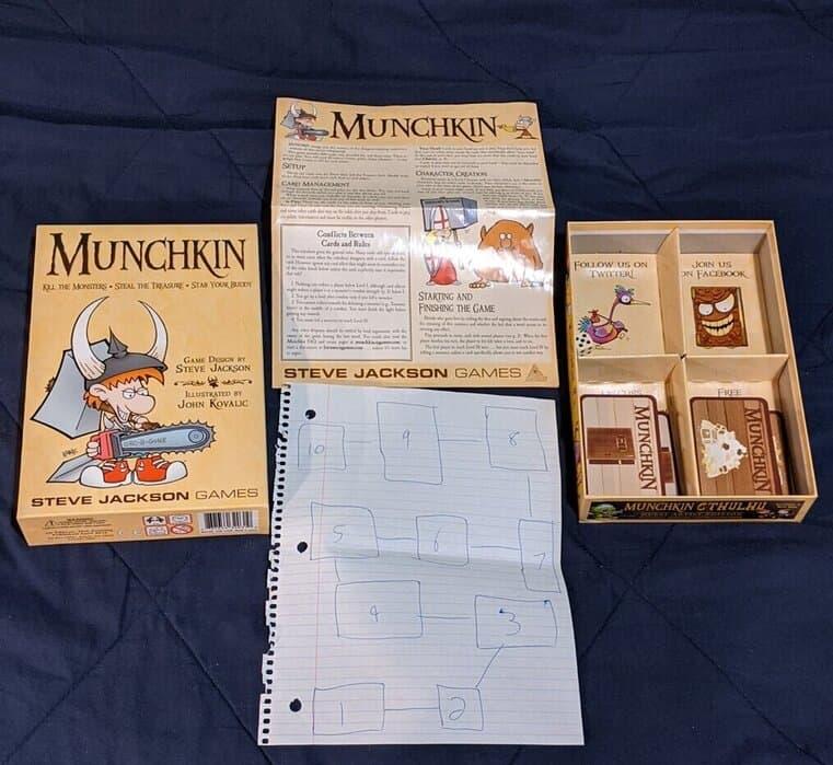Munchkin boardgame pieces