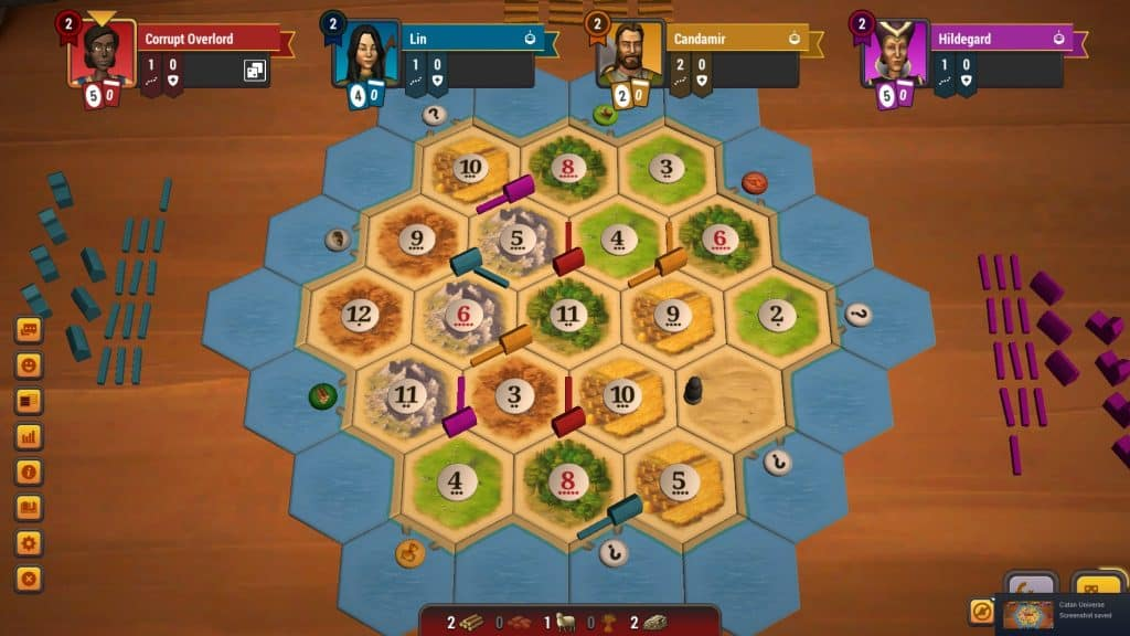 all resources Catan map