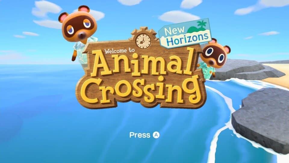 Animal Crossing start screen