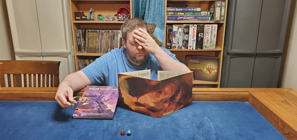 Tired DM at D&D Table