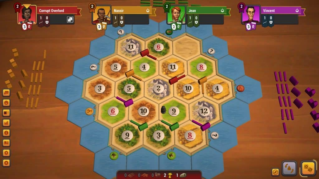 rare resources Settlers Catan