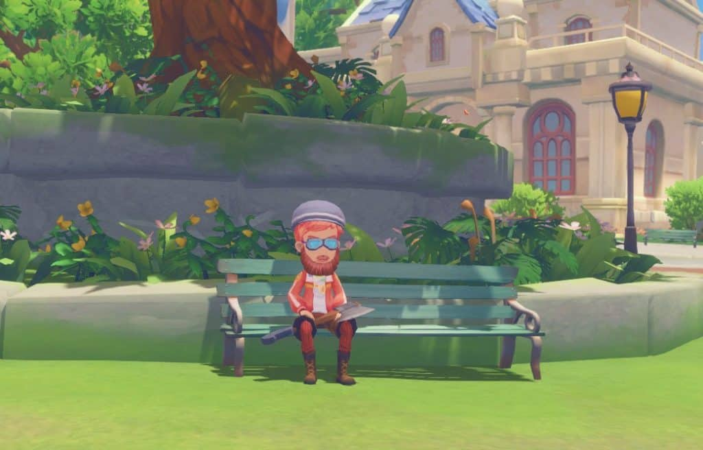town center bench my time at portia