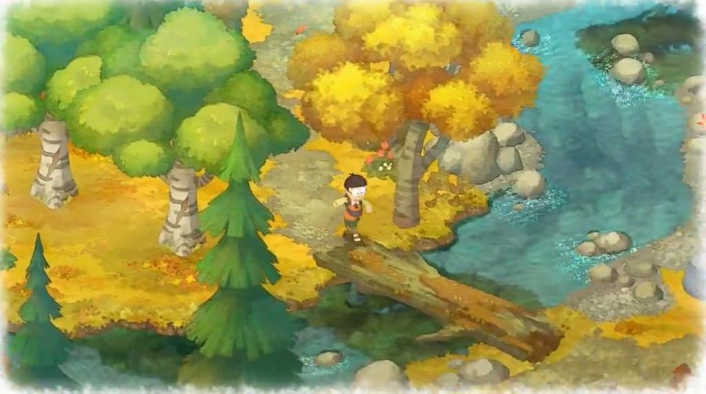 Doraemon Autumn forest