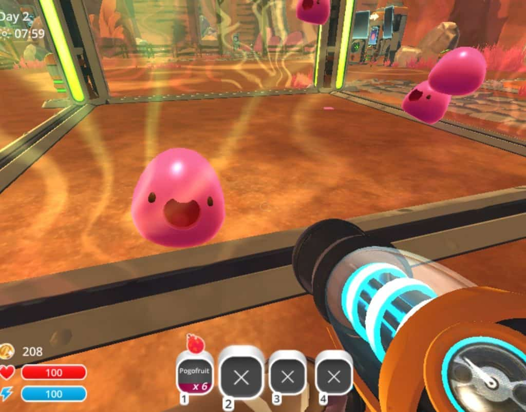 happy red slimes slime ranchers