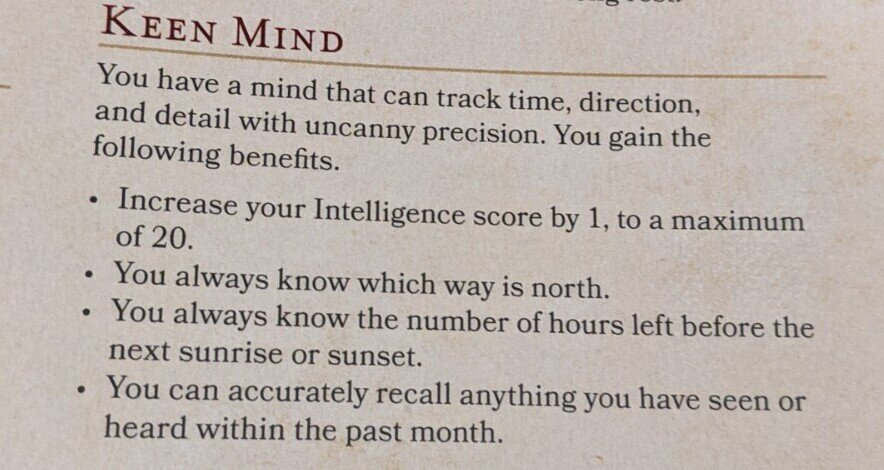 Keen Mind controversial 5th Ed Feat