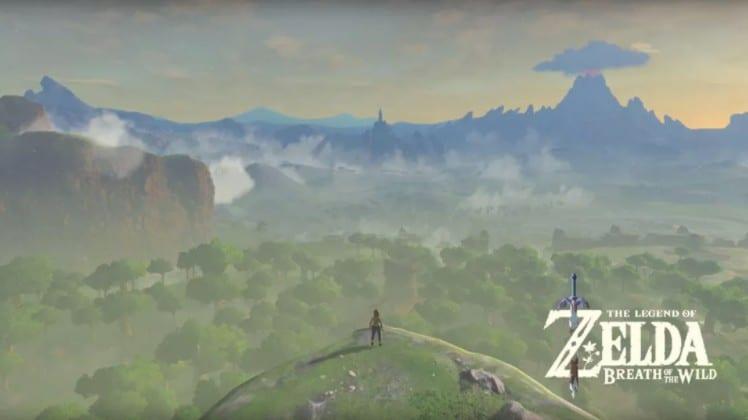 Zelda Breath of the Wild opening screen