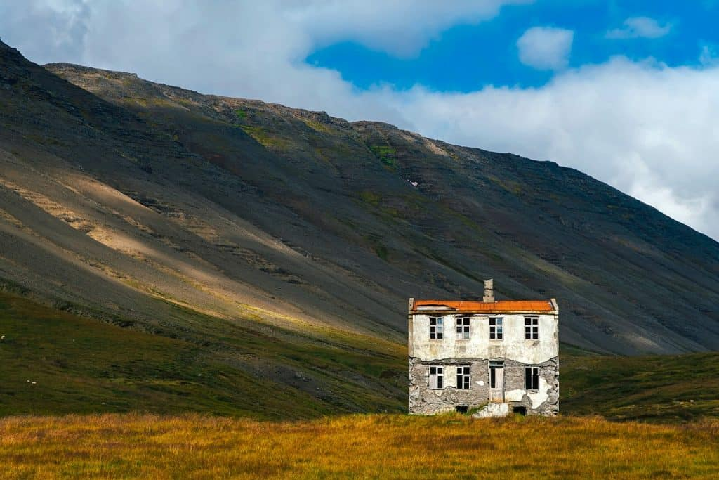 very rural isolated home