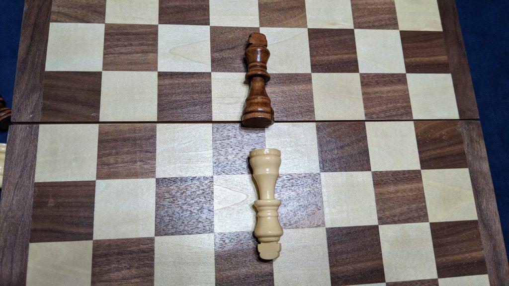 two chess kings conceding
