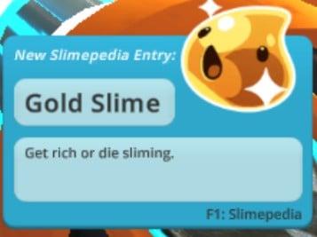 gold slime entry slime rancher