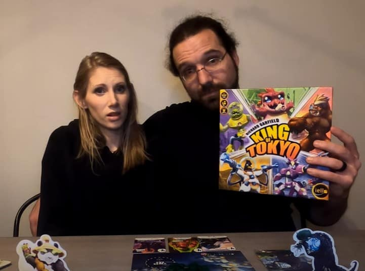 King of Tokyo with gaming couple