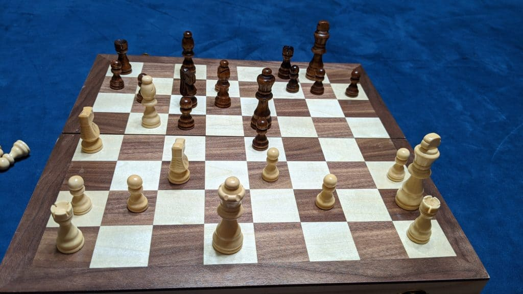 chess game in progress