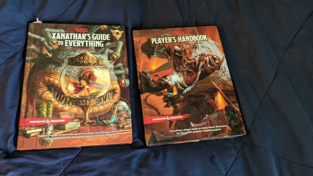 DnD players handbook and Xanathars Guide