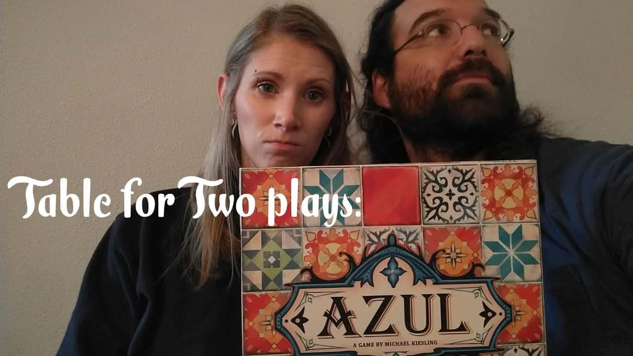 Gaming couple playing Azul