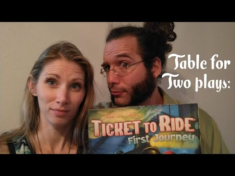 Ticket to Ride First Journey gaming couple