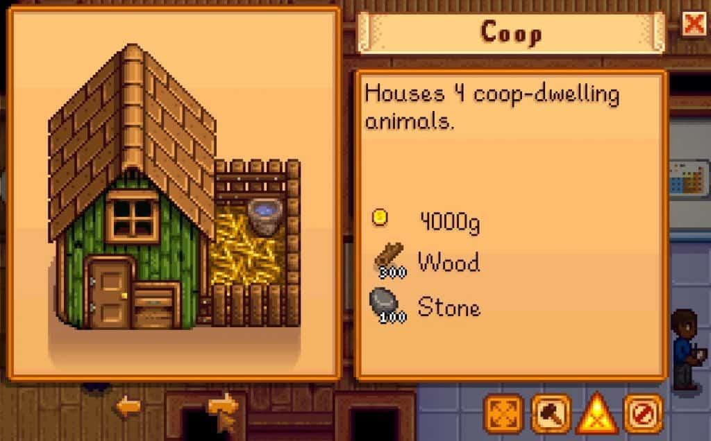 cost of coop stardew valley