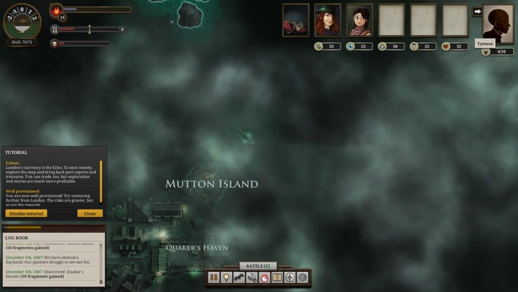 sunless sea fog