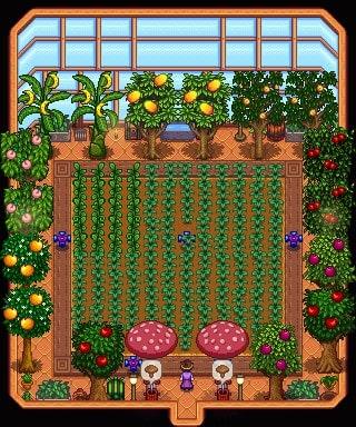 Stardew Valley fruit trees greenhouse