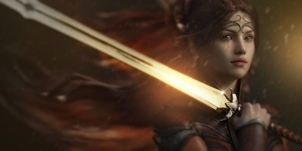 Fantasy Swords Woman